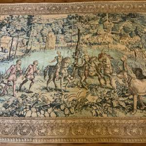 Superb Large French Tapestry Wall Hanging with Hessian Back
