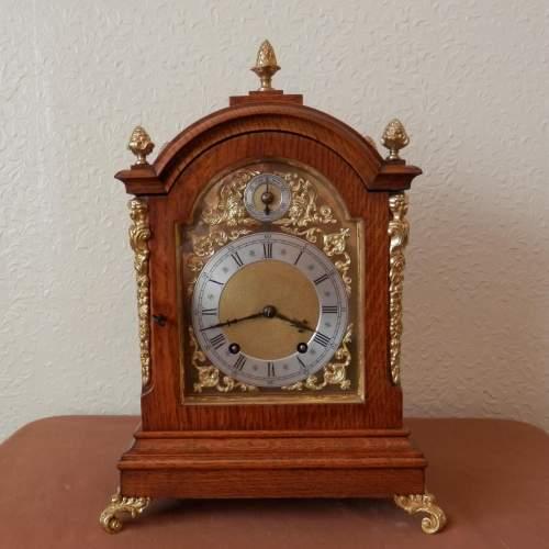 Mahogany Mantel Clock by Winterhalder and Hoffmeir Germany image-2
