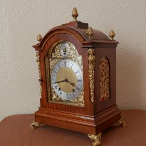 Mahogany Mantel Clock by Winterhalder and Hoffmeir Germany