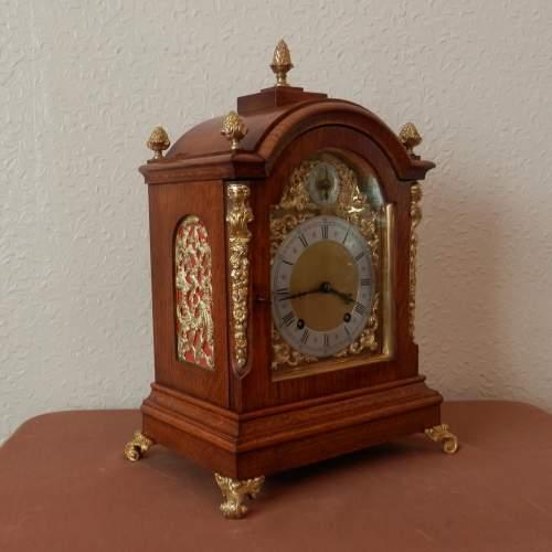 Mahogany Mantel Clock by Winterhalder and Hoffmeir Germany image-3