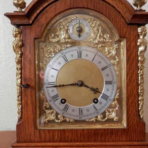 Mahogany Mantel Clock by Winterhalder and Hoffmeir Germany image-4