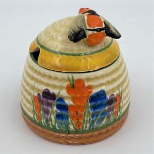 Clarice Cliff Bizarre Crocus Honey Pot