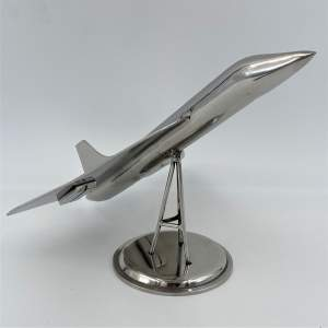 Chrome Concorde Desk Model on Stand