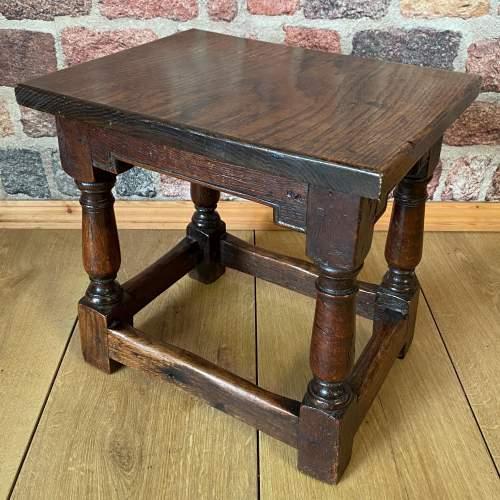 Victorian Oak Joint Stool circa 1860 image-1