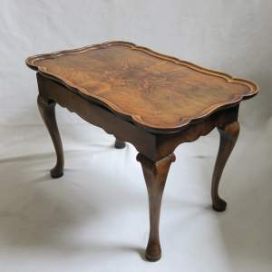 1930s Walnut Coffee Table with Tray Top