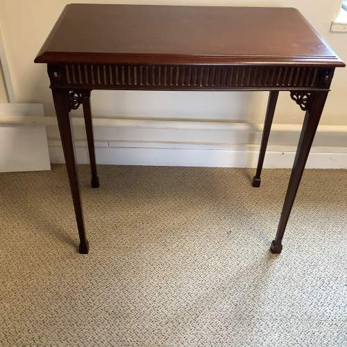Edwardian Mahogany Chippendale Style Silver Table image-1