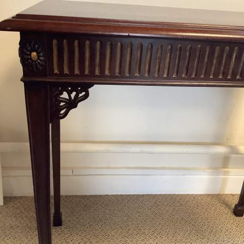Edwardian Mahogany Chippendale Style Silver Table image-2