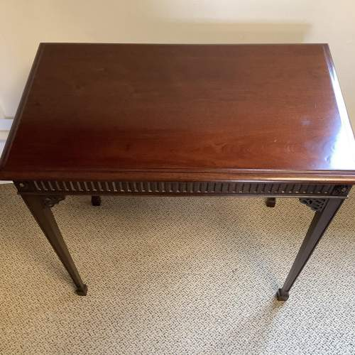 Edwardian Mahogany Chippendale Style Silver Table image-3
