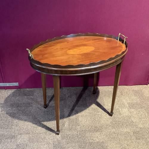 Mahogany Inlaid Tray Table image-1