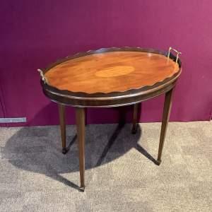 Mahogany Inlaid Tray Table