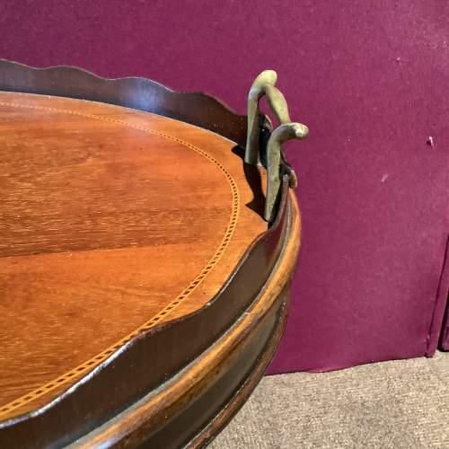 Mahogany Inlaid Tray Table image-3