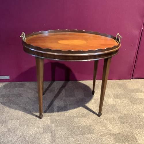 Mahogany Inlaid Tray Table image-5