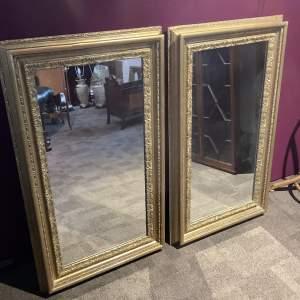 Pair of Large Gilt Framed Mirrors