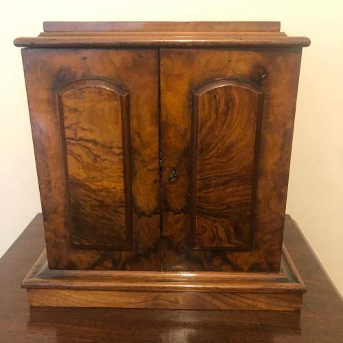Burr Walnut Table Cabinet image-1