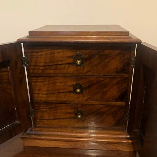 Burr Walnut Table Cabinet image-4