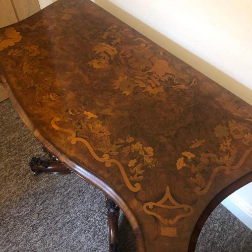 Victorian Marquetry Games Table image-3