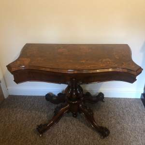Victorian Marquetry Games Table