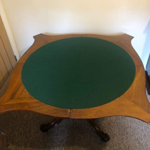 Victorian Marquetry Games Table image-4