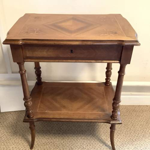 French Walnut Victorian Sewing Work Table image-1