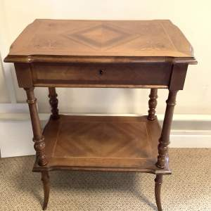French Walnut Victorian Sewing Work Table