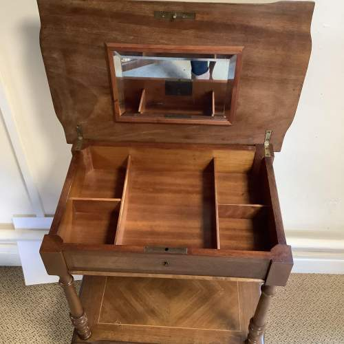 French Walnut Victorian Sewing Work Table image-3