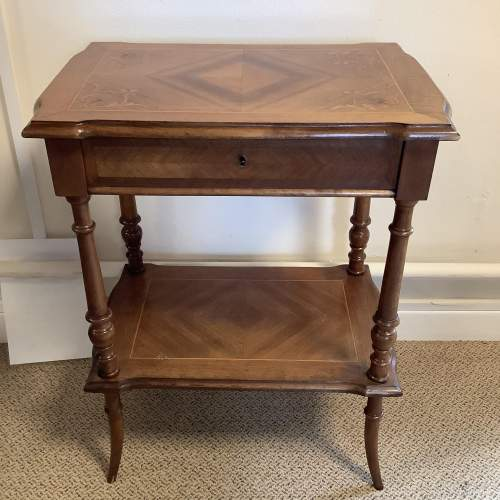 French Walnut Victorian Sewing Work Table image-4