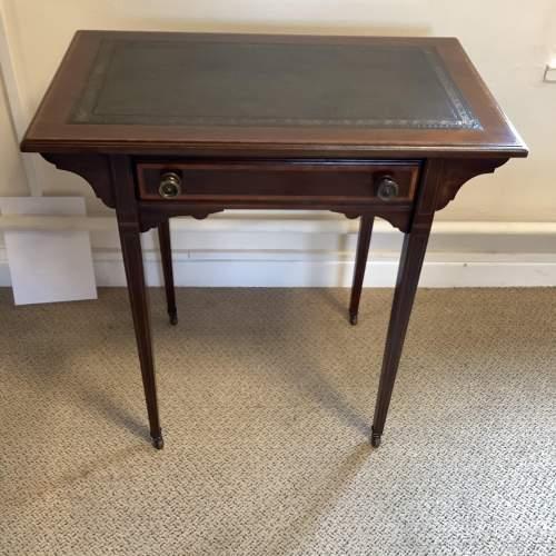 Edwardian Inlaid Mahogany Writing Table image-1