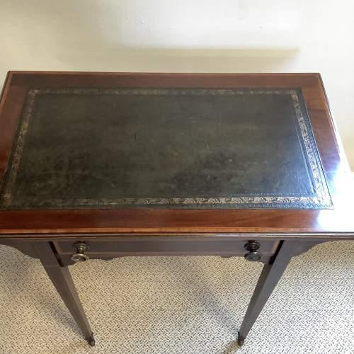 Edwardian Inlaid Mahogany Writing Table image-2