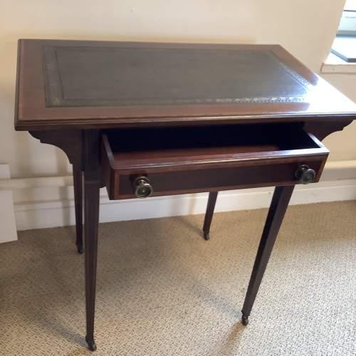 Edwardian Inlaid Mahogany Writing Table image-3