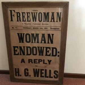 An Original Suffragette related Poster Dated March 14th 1912