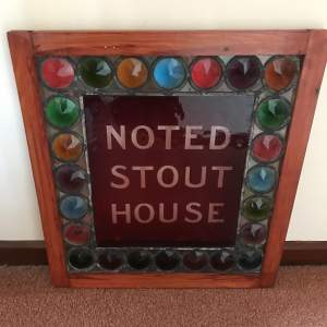 Original Stained Glass Panel from Norfolk Pub promoting Stout