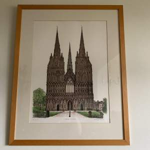 David Gentleman Limited Edition Print of Lichfield Cathedral