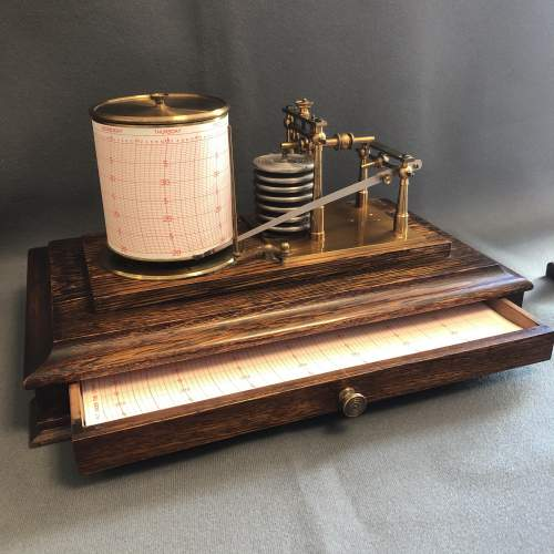 Early 20th Century Brass Barograph image-2