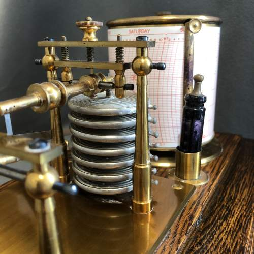 Early 20th Century Brass Barograph image-4