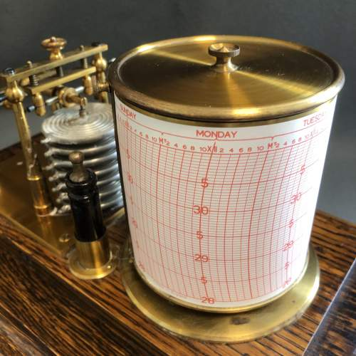 Early 20th Century Brass Barograph image-5