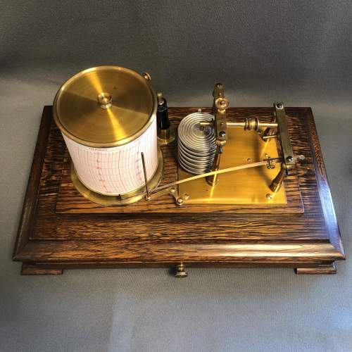 Early 20th Century Brass Barograph image-6