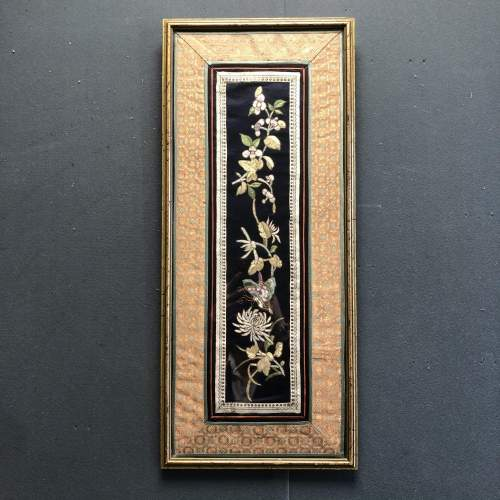 A Quing Dynasty Silk Sleeve Panel image-1