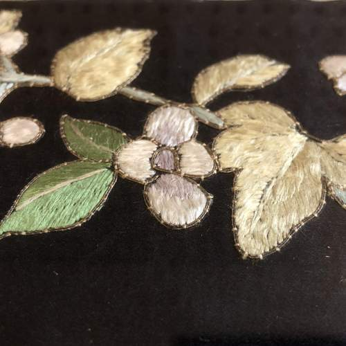 A Quing Dynasty Silk Sleeve Panel image-3