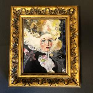 Mixed Media Portrait by Patricia Bowditch