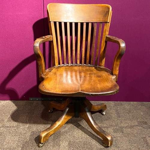 Early 20th Century Walnut Office Chair image-2