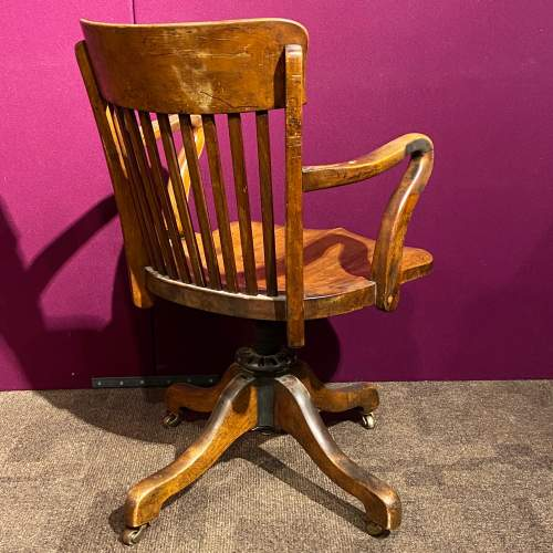 Early 20th Century Walnut Office Chair image-3