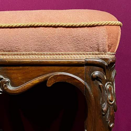 Victorian Rosewood Deep Buttoned Foot Stool image-2