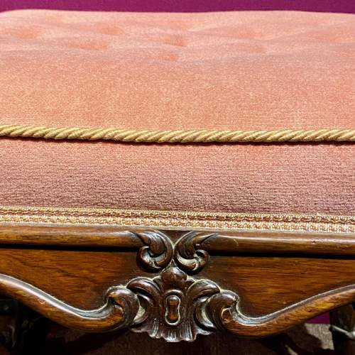 Victorian Rosewood Deep Buttoned Foot Stool image-3