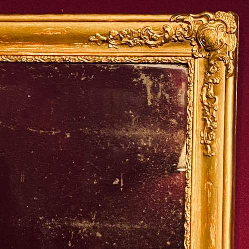 Victorian French Giltwood Wall Mirror image-2