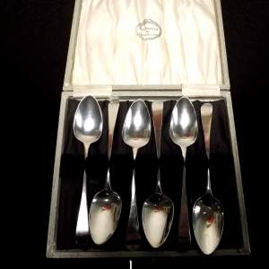 Set of 6 Georgian 1806 Silver Spoons by Peter and Ann Bateman