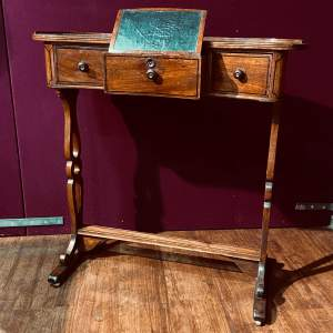 Rare Regency Period Ladies Writing Table