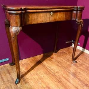 Early 18th Century Irish Mahogany Foldover Tea Table