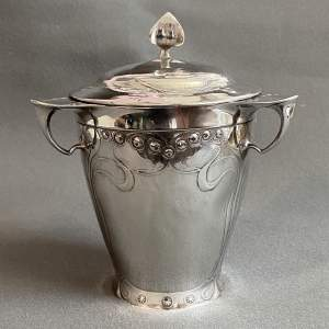 Kayserzinn Art Nouveau Pewter Biscuit Barrel