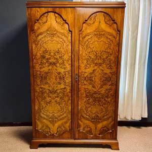 Mid 20th Century Figured Walnut Veneered Wardrobe