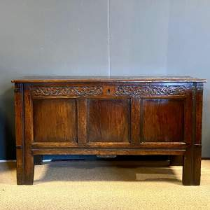 Late 17th Century Large Oak Coffer